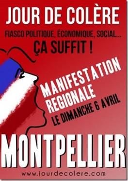 Manifestation Jour de colère à Montpellier