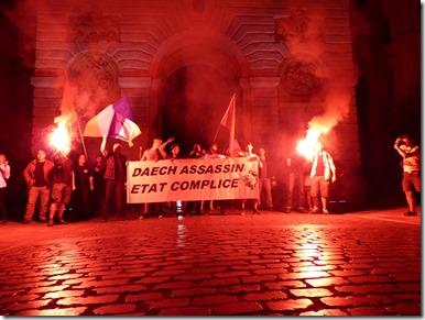 """Richard Roudier, aux patriotes présents sous l'Arc de Triomphe de Montpellier : """"vous êtes la Résistance"""" !"""
