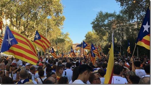 Catalogne : entre 500.000 et 1.000.000 de manifestants pour l'indépendance