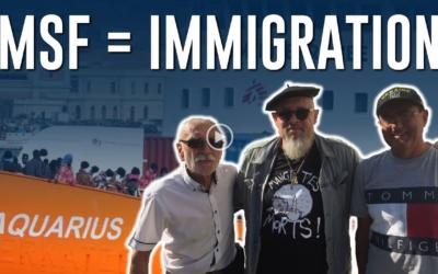 A Bordeaux les patriotes ont dénoncé MSF, affréteur du bateau-pirate Aquarius !