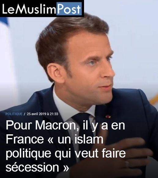Ce sont eux qui le disent : Macron assume la partition de la France