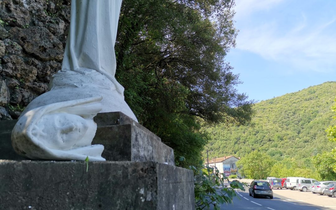 Pont d'Hérault : la statue de la Vierge Marie érigée en 1951 a été détruite dans la nuit