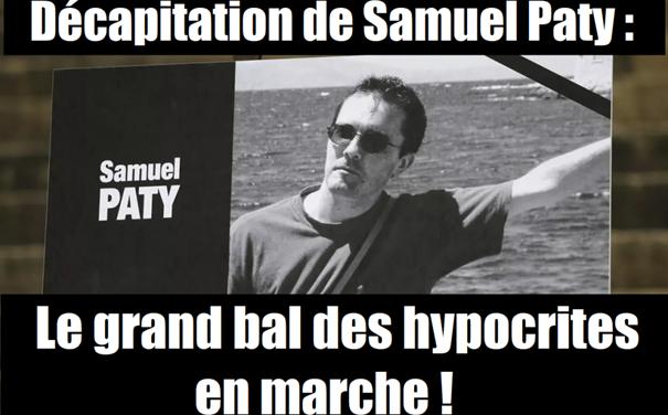 Décapitation de Samuel Paty : pas de vague ! Le grand bal des hypocrites en marche !